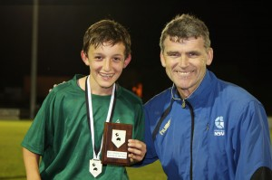 Alex Tobin, right, with Luca Kmet winner of the Player of the Bill Turner Cup final.