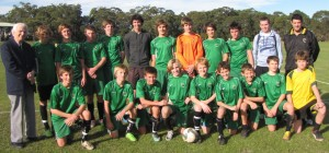 Mr Bill Turner and Hunter Sports High School Cup team
